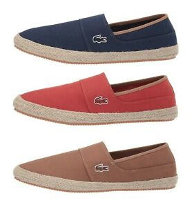Lacoste-Marice-119-Men-039-s-Casual-Canvas-Loafer-Shoes-Sneakers-Brown-Navy-Red-NEW