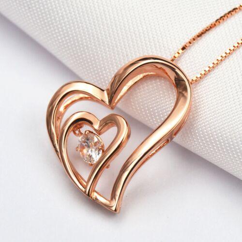 """Cross /& collier cœur pendentif avec Labo Diamants//Argent Sterling 925//18/"""" Chaîne"""