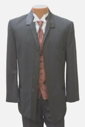 100/% Wool Pierre Cardin Black Slide Tuxedo Coat Dinner Jacket