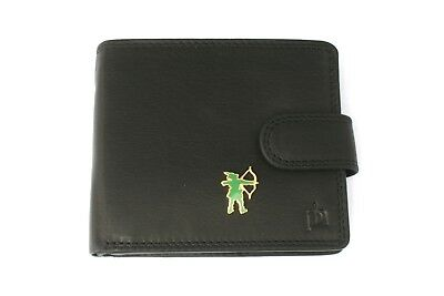 Angemessen Robin Hood Mens Leather Wallet Black Or Brown Archery Gift 300
