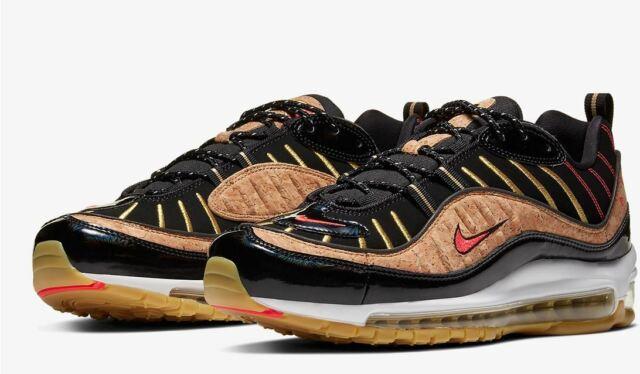 Nike Air Max 98 Cork Black 2020 Shoes Size 11 Men's Ct1173 001