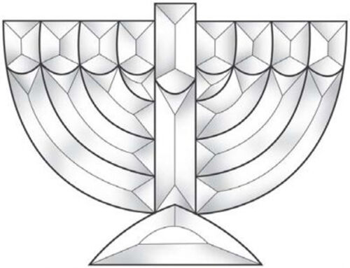 Stained Glass Supplies Menorah Bevel Cluster EC211