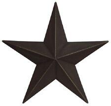 "Set of 3 - 5.5""  ""Black "" Barn Stars, Primitive, Country, Metal Star"