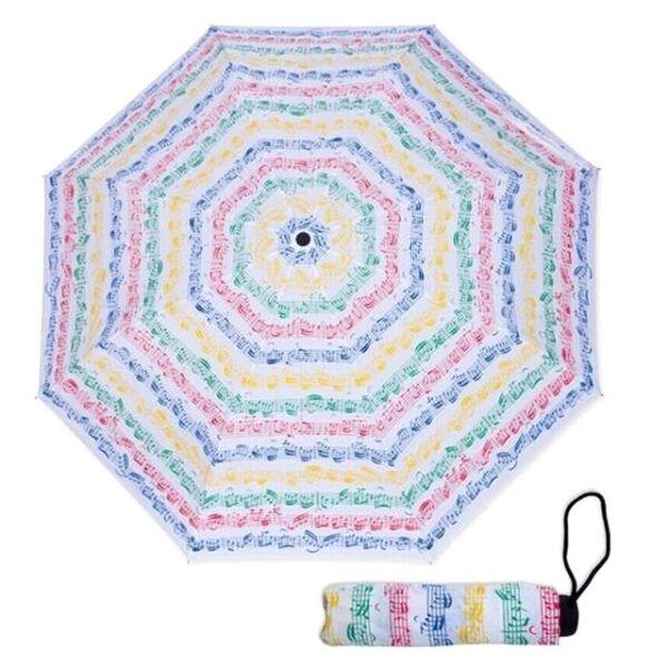 ! Nuevo! Notas De Color De Partituras Viena Mundo Mini Compacto Paraguas Músico Regalo-ver
