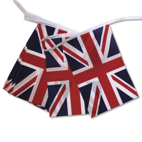 Union Jack Bunting tissu polyester 6 mètres mariage royal Street Party Banner