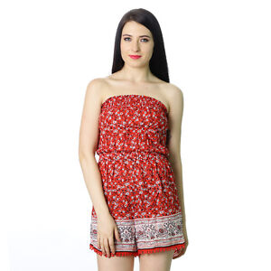 ab3e59deca8 Summer Sale NEW LOOK WOMENS RED FLORAL GIRLS PETITE PLAYSUIT ROMPER ...