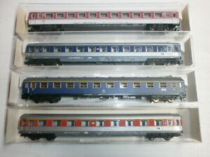 Convolute-4-Fleischmann-Passenger-Cars-8111K-8183-8184-8186K-Boxed-Scale-N