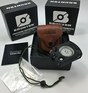 Brunton-Omni-Sight-Sighting-LED-Illuminated-Compass-ALUMINUM-Housing-amp-Sheath