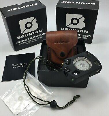 Brunton® Omni-Sight Sighting LED Illuminated Compass ALUMINUM Housing /& Sheath