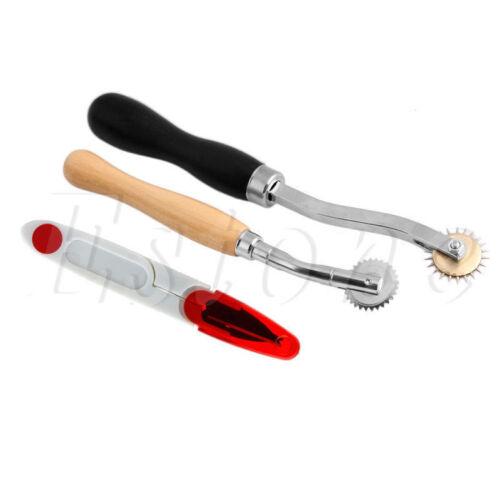 Cucito Leather Craft Tools Kit 14 PZ Punteruolo per Cerato DITALE ago Scissor-S400