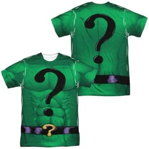 DC-Comics-The-Riddler-Uniform-halloween-costume-outfit-ALLOVER-2-Sided-T-shirt