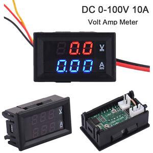 DC4-30V-Dual-LED-Digital-Voltmeter-Ammeter-Panel-Voltage-Current-Tester-Display