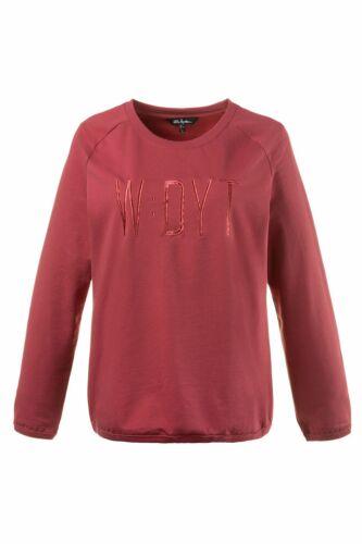 ULLA POPKEN Sweatshirt bestickt mattes himbeer NEU