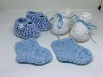 Baby Infant Girl Newborn Handmade Crochet Knit Socks Crib Shoes Accessories