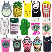 New 3D Cute Cartoon Soft Silicone Rubber Case Back Skin For Various Cell Phone