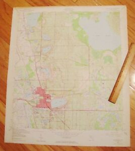 Lake Wells Florida Map.1952 Lake Wales Florida Huge U S Geological Survey Map 23 X 27