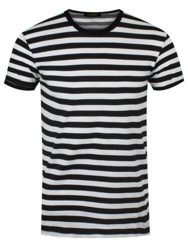 Männer T-Shirt weiß//schwarz gestreift