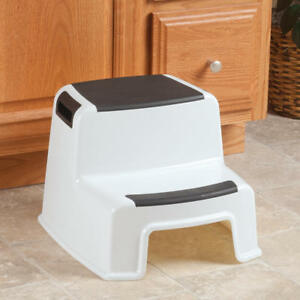 Heavy Duty Step Stool Plastic Weight 280 Lbs Two Tier