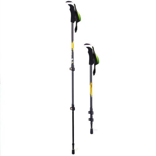 Carbon Fiber Anti Shock Sports Walking Trekking Hiking Stick Pole Alpenstock Top