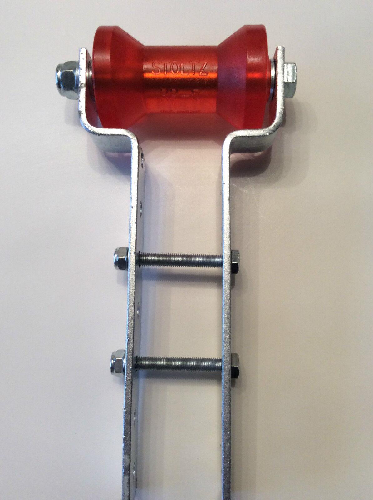 Stoltz Kielrolle Kielrollenhalter RP-5,höhenverstellbarer Kielrollenhalter Kielrolle für Stiefeltrailer,PU e748b3