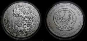 2012-Rwanda-1-oz-Fine-Silver-999-Banki-Nkuru-Y-039-u-Rwanda-50-Francs-UNC-Rhino