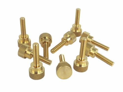 "10 Pack 10//32 x 3//4/"" Threads Solid Brass Diamond Knurled Thumb Screws SAE"