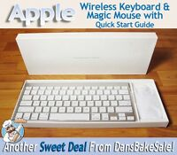 Apple Wireless Bluetooth Keyboard And Magic Mouse A1314 A1296 Brand In Box