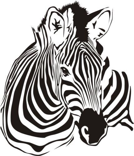 ZEBRA Wall Art Wandtattoo Tiermotiv Wandaufkleber