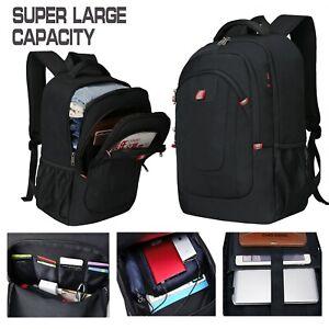 "Extra Large Durable Travel Backpack Anti-Theft 17"" Laptop Bag Shoulder USB Port"