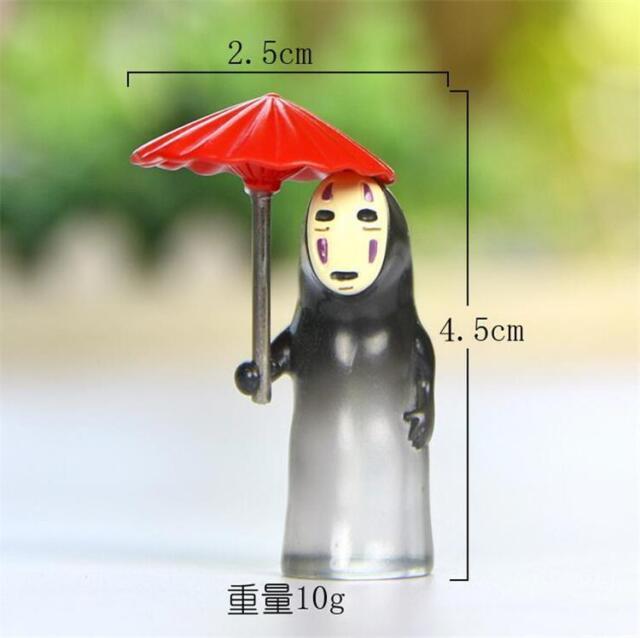 Ghibli Miyazaki Hayao Spirited Away Open An Umbrella No Face Man Figure Figurine For Sale Online Ebay