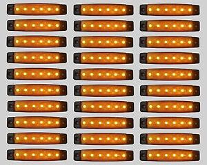 10 X 24v Led Bernstein Orange Umriss Heck Seitenmarkierungsleuchten Licht Lkw
