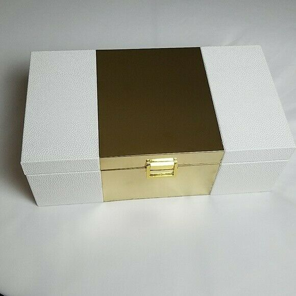 Large Decorative Storage Coffee Table   Dresser Box with Lined Interior