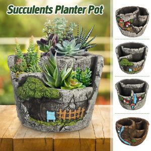Garden-Succulent-Flower-Plant-Pot-Planter-Holder-Craft-Ornament-Basket-Decor