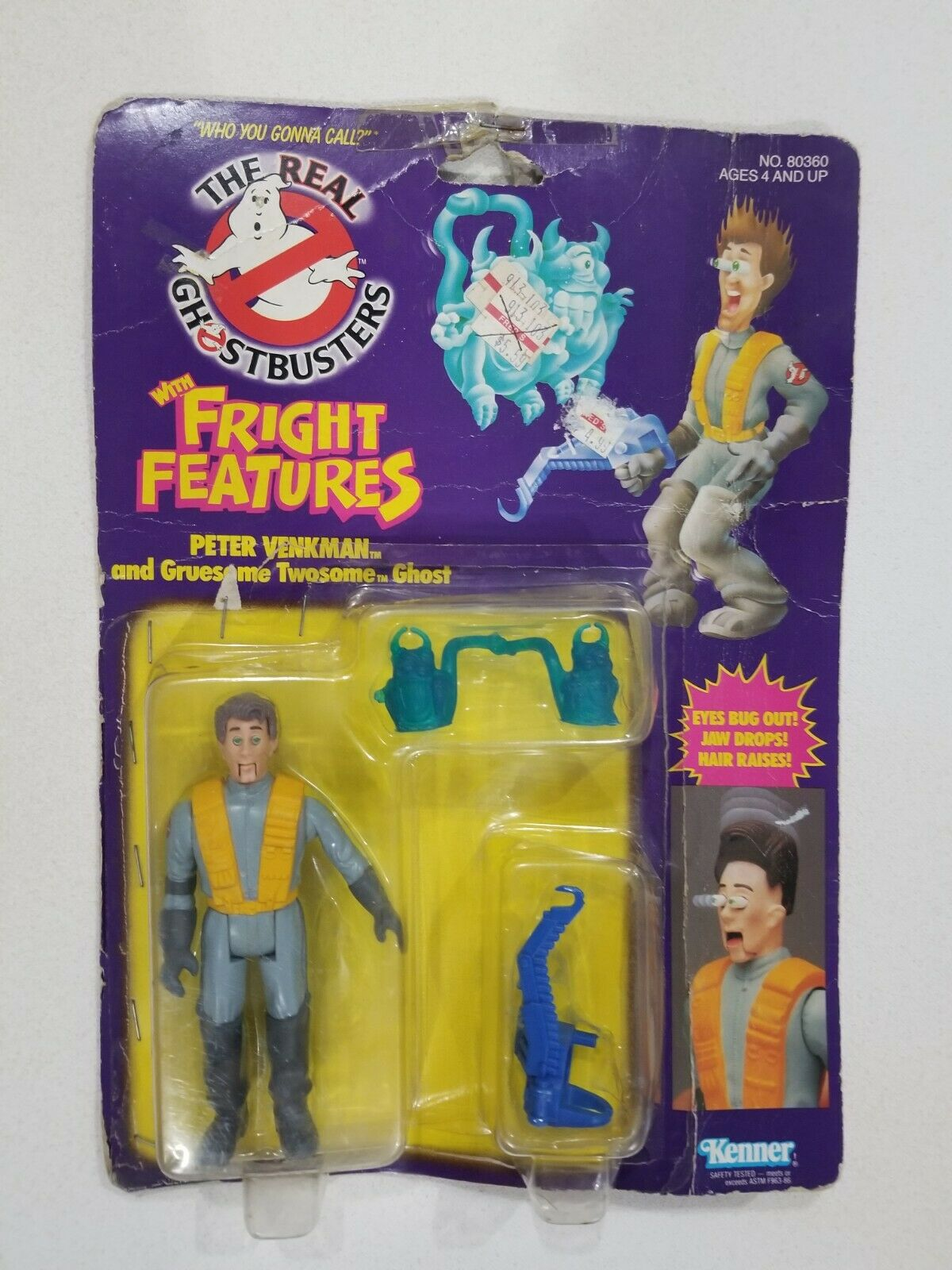 1986 KENNER REAL GHOSTBUSTERS FRIGHT FEATURES PETER VENKMAN FIGURE SEALED
