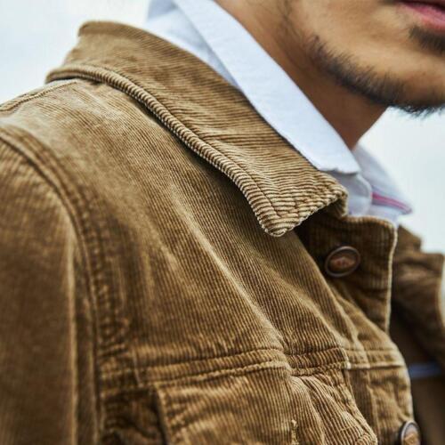 veste côtelé chemise en chaude japonais loisirs Vintage Slim S manteau revers velours Mens Ths01 w6aqAf8Xnx