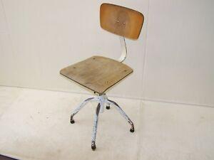 Bella vecchio sedia da ufficio art deco sedia girevole vintage