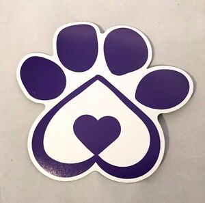 Heart Shaped Dog Paw Print Car Magnet Pet Paw Print Auto Magnet