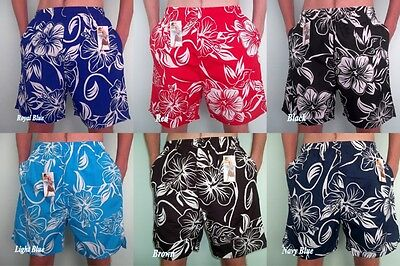 Hart Arbeitend Mens Boys Polyester Flower Shorts Elasticated Beachwear Multis Floral Swim Short