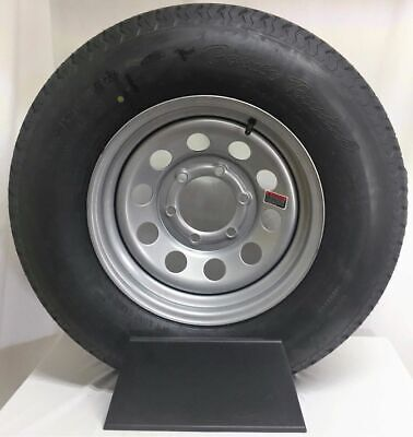 "15/"" 5-5/"" Bolt Circle Silver Modular Wheel and ST20575R15C Radial Trailer Tire"