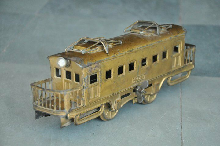 Vintage Wind Up 3741 3741 3741 golden Litho Tram Cable Car Tin Toy,Japan 2cdb62
