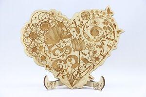 Das Bild Wird Geladen Holz Einladungskarte Laser Graviert Hochzeit Einladung  Einladung Herz