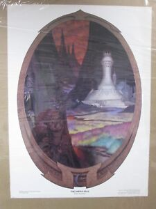 Vintage-poster-The-Dread-Vale-wizard-Rings-elves-1976-Inv-G851