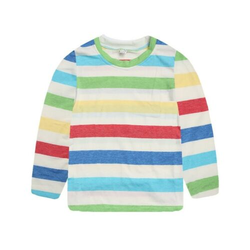 Rainbow Toddler Kids Baby Girl Boy Long Sleeves Striped Print Shirt Tops Clothes