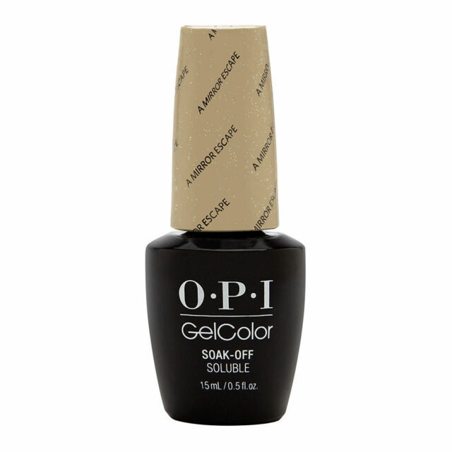 Opi Gelcolor Alice Mirror Escape Glittering Gold Uv Led Gel Nail Polish Gc Ba6