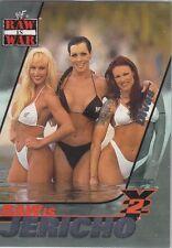 LITA CHYNA DEBRA DIVAS 2001 Fleer WWF WWE RAW IS JERICHO Insert Card #13RJ