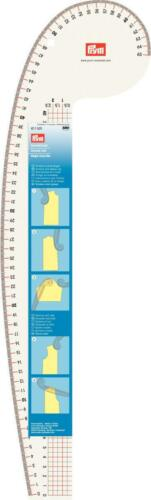 Kurvenlineal Nr 611501  160 x 525 mm Prym Armloch Schneidleiste Schneiderlineal