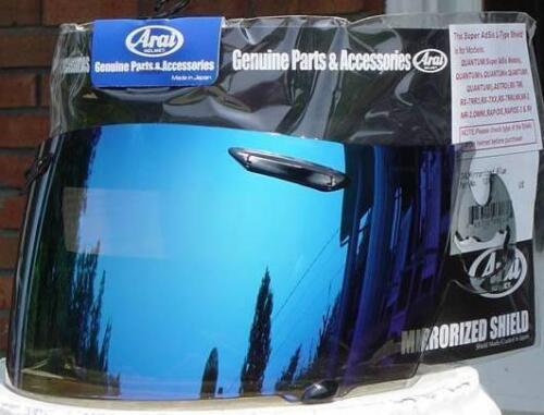 GENUINE Blue Mirror Iridium Visor Shield RX7 Corsair RR4 Profile Viper NEW Arai