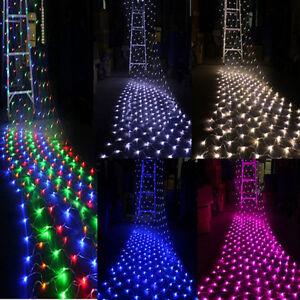 96-200-880LED-Net-Mesh-Light-Xmas-Party-Outdoor-Fairy-Garden-String-Lights-Lamp