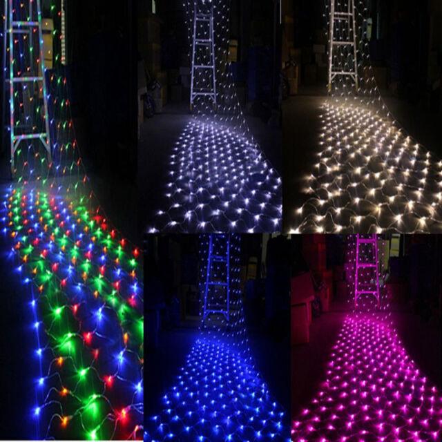 96/200/880LED Net Mesh Light Party Wedding Fairy Garden String Lights Decoration