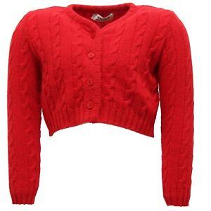 9440U-cardigan-bimba-PAIO-CRIPPA-rosso-lana-merino-wool-sweater-kid
